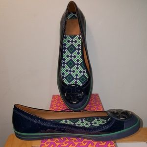 TORY BURCH CHANNING ROYAL NAVY CHANNING BALLET